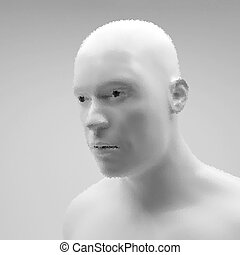 Cyborg, Android, Robot. Realistic Vector Humanoid Robot....