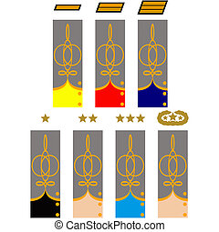 Sleeve and collar insignia of officers CSA during the...