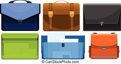 different briefcases for bussiness papers and documents