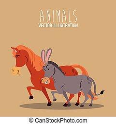 donkey and horse design