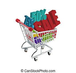 shopping, bonde, venda, oferece