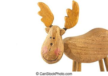 wooden toy reindeer