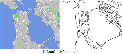 San Francisco - Illustration city map of San Francisco in...