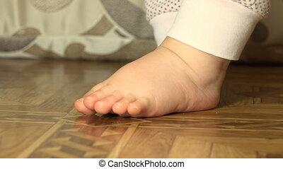 Newborn Baby Sweet Feet Closeup - Newborn Baby Sweet Feet...