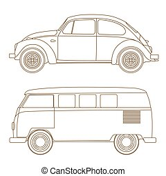 Set of cars 50-60 years, popular among young people the...