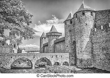 Castle in Carcassonne, France