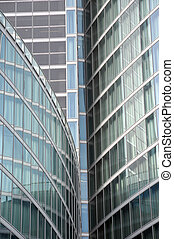 Modern building glass facades geometry - Modern building...