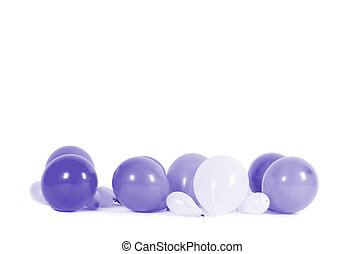 Colourful balloons isolated