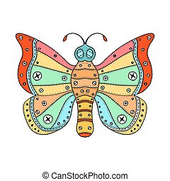 vector Tangle Patterns butterfly