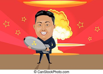 Bomb Nuclear Explosion Design Flat - Bomb nuclear explosion...
