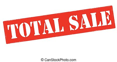 Total sale - Rubber stamp with text total sale inside,...