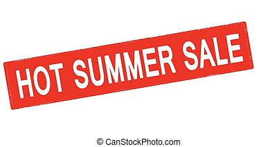 Hot summer sale - Rubber stamp with text hot summer sale...