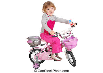 peu, girl, Vélo