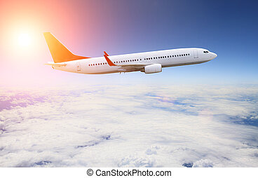 Planeflying over the clouds