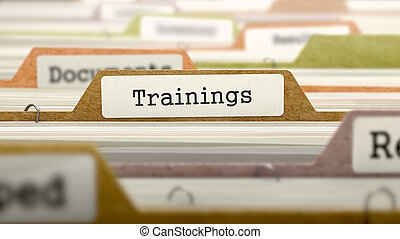 Folder in Catalog Marked as Trainings - Folder in Colored...