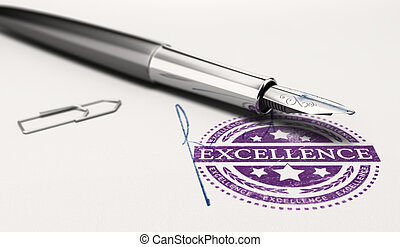 Certificate of Excellence - Excellence mark imprinted on a...