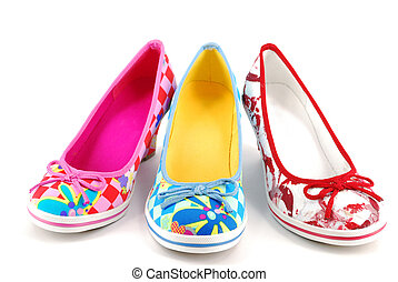 woman colorful shoes