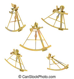 Sextant - Computer generated 3D illustration with a sextant...