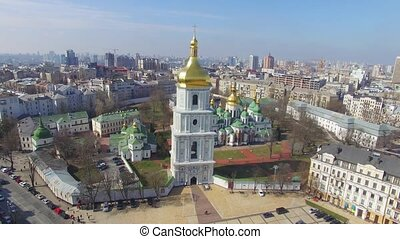 Cathedral of Saint Sophia aerial view - Cathedral of Saint...