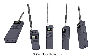 Walkie Talkie - Computer generated 3D illustration with a...