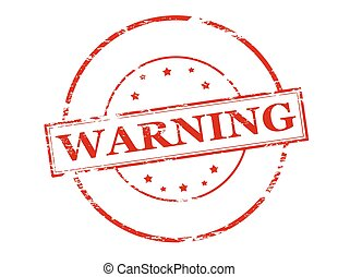 Warning - Rubber stamp with word warning inside, vector...