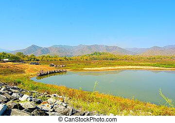 ang, Reservatório, Chiangmai, Nam, manao, tailandia, huai,...
