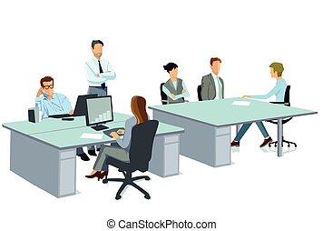 Bueroarbeiten.eps - Office work in a team