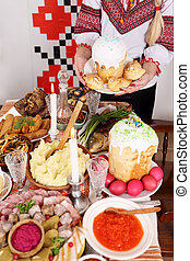 Traditional Easter snacks - Traditional Easter Slavic...
