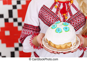 Traditional easter kulich - Traditional easter cake kulich...