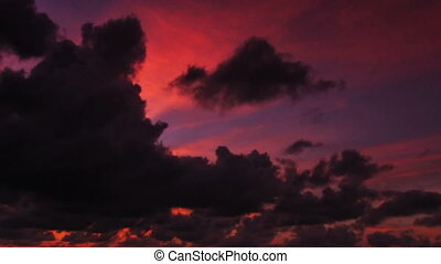 Tropical Sunset - fast motion of tropical sunset