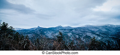 scenic views at brown mountain overlook in north carolina at...