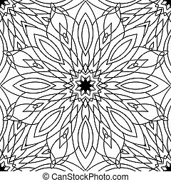 Seamless black and white texture with tribal pattern. Vector background for scrapbooking sites and your creativity