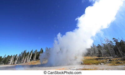 Grand Geyser Eruption Fast Motion - Fast motion view of...