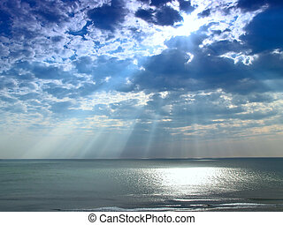 Sunray from the sky at Virginia breach in US
