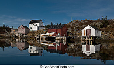 Mirror Image - Peaceful morning Too Good Arm,Newfoundland.