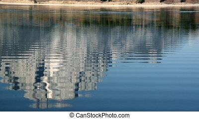 Jackson lake Reflection - Teton Mountain Range reflected in...