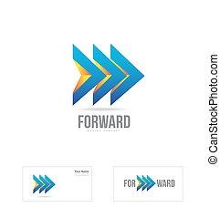 Forward arrow moving concept logo