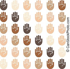 Vector seamless skin tones background - Vector seamless skin...