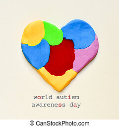 heart and text world autism awareness day - the text world...