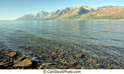 Jackson Lake in Wyoming - Jackson Lake with the Teton...