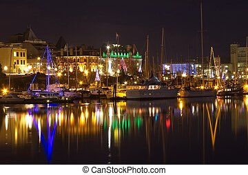 Victoria Inner Harbour at night