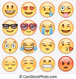 Vector emoticons collection - Set of high quality vector...
