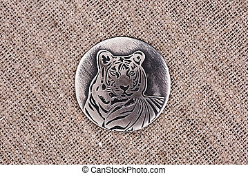 Tiger - the embodiment of energy, health and success. Silver...