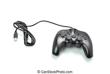 game controller isolated on white background