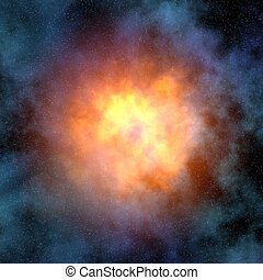 super nova and star field abstract background