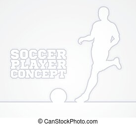 Silhouette Soccer Player Concept