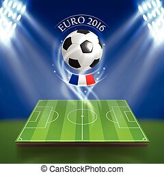 Euro 2016 concept in realistic style for any design