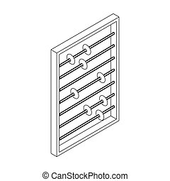Abacus icon, isometric 3d style