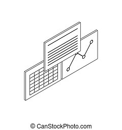 Patient records icon, isometric 3d style