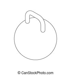 Kettlebell icon, isometric 3d style - Kettlebell icon in...